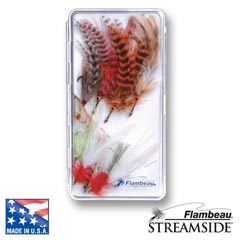 Slimline Streamside™ Fly Box - Flat Foam fly, fly fishing, fly fishing box, box, vertical friction foam, friction, steamside, stream side, streem side, fly box, ripple foam, ripple, 1-compartment streamside fly box, fishing gear, fishing gear storage, storage for fly, great gift, fathers day, gift for him, fishing supplies,