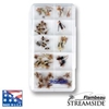 Slimline Streamside™ Fly Box - (10) Compartments fly, fly fishing, fly fishing box, box, vertical friction foam, friction, steamside, stream side, streem side, fly box, ripple foam, ripple, 10-compartment streamside fly box,  fishing gear, fishing gear storage, storage for fly, great gift, fathers day, gift for him, fishing supplies,
