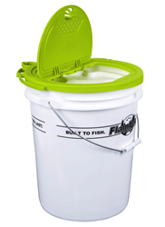 Insulated Bait Bucket - 5 GAL. insulated bait bucket, 5 gallon bait bucket, 5 gallon bucket, premium bait pucket lid, bait storage, fishing, live bait