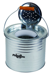 Galvanized Floating Minnow Bucket - 8 QT. galvanized floating minnow bucket, galvanized minnow bucket, floating minnow bucket, minnow bucket, minnow storage, bait storage, fishing, live bait storage