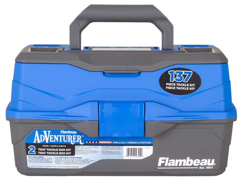 Adventure 2-Tray 137-Piece Tackle Box Kit