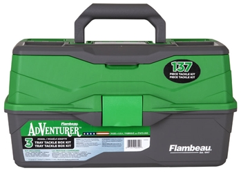 Adventurer 3-Tray 137-Piece Tackle Box Kit - front closed