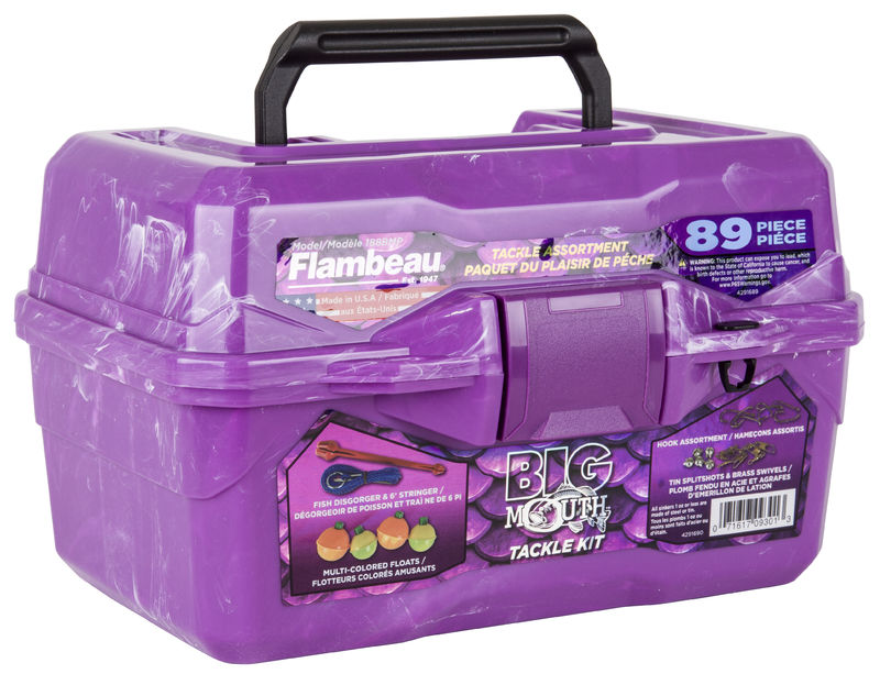 Big Mouth Tackle Box Kit - Purple Swirl