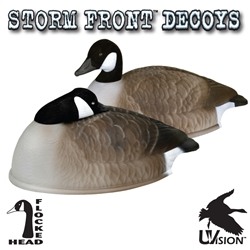 "Stormfront™ 24"" Flocked Canada Goose Shell - Sleeper/Rester Pack storm, storm front, front, storm front decoys, stormfront decoys, stormfront decoy, storm front decoy, uvision, u vision, u-vision, uv, goose decoy, goose decoys, canadian goose, canada goose, waterfowl, geese, sleeper, rester, sleeping, resting, flocked canada goose shell, shell, hunting, bird hunting, hunting gear for birds, hunting birds, fathers day, gift for him, Christmas gift for him,"