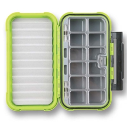 Flambeau® Ice Large 12-Compartment/Ripple Foam Box fishing, ice fishing, winter fishing, fishing gear, storage for tackle, storage for lures, storage for flys, Ice tackle box, waterproof tackle box, fishing gear storage, gifts for him, fathers day gift, highly visable tackle box, sturdy tackle box, durable tackle box,