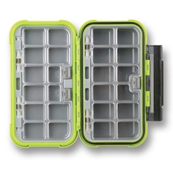 Flambeau® Ice Large 24-Compartment Box fishing, ice fishing, winter fishing, fishing gear, storage for tackle, storage for lures, storage for flys, Ice tackle box, waterproof tackle box, fishing gear storage, gifts for him, fathers day gift, highly visable tackle box, sturdy tackle box, durable tackle box,