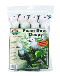 Flambeau Foam Dove - 4-Pack dove, dove decoys, decoys, doves, flambeau doves, foam doves, flambeau foam dove decoys