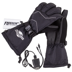 3.7V Rechargeable Heated Glove Kit - Leather Palm 7.4V rechargeable heated glove, 7.4V rechargeable heated gloves, 7.4V rechargeable heated glove leather palm, leather, leather palms, leather palm gloves, heated gloves, heated glove, glove kit, black gloves, black glove, O.J. Simpson