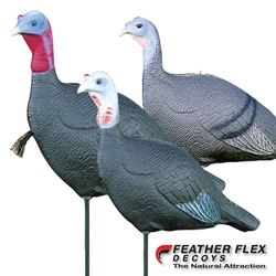 "Feather Flex® Love Triangle® - Combo Pack turkey, turkey decoy, turkey decoys, love tirangle, the love triagle, love, the love triagle decoy set, featherflex, feather flex, ""Feather Flex"""