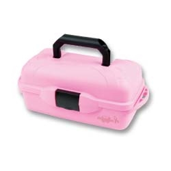 Classic 1-Tray - Pink Ribbon tackle box, Water proof tackle box, tackle, storage, lures, storage for lures, storage for tackle, great gift, Mothers day gift, Christmas gift, birthday gift, fishing gear, fishing supplies, deep sea fishing, pink, breast cancer support, pink ribbon, cancer, breast cancer,  slat water fishing, fresh water fishing, fishing,