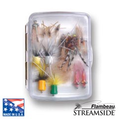 Small Streamside™ Fly Box - Ripple Foam fly, fly fishing, fly fishing box, box, vertical friction foam, friction, steamside, stream side, streem side, fly box, ripple foam, ripple, small ripple foam streamside fly box,  fishing gear, fishing gear storage, storage for fly, great gift, fathers day, gift for him, fishing supplies,