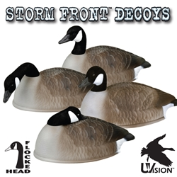 Stormfront™ Flocked Head Canada Goose Shell - 12-Pack storm, storm front, front, storm front decoys, stormfront decoys, stormfront decoy, storm front decoy, uvision, u vision, u-vision, uv, goose decoy, goose decoys, canadian goose, canada goose, waterfowl, geese, flocked, flocked canada goose shell, shell, pack, hunting, bird hunting, hunting gear for birds, hunting birds, fathers day, gift for him, Christmas gift for him,