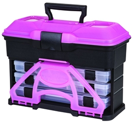 6304TJ Frost Pink Front Loader T3,pink T3,frost T3,front loader,tackle box,front loader tackle box